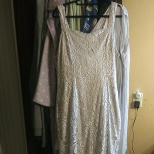 Silver lace nwot mother of the bride dress